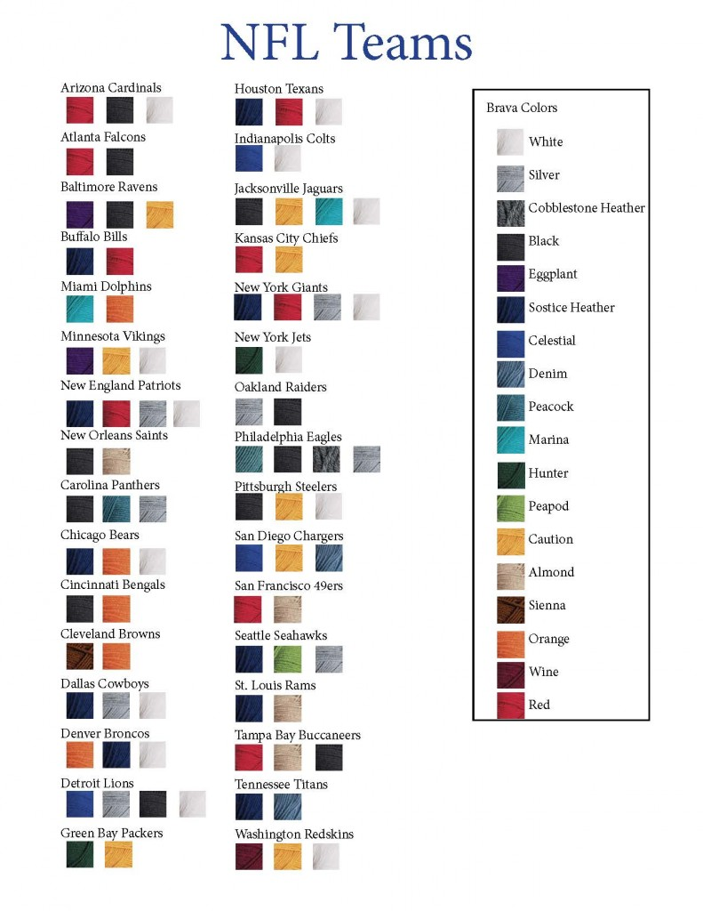nfl colors