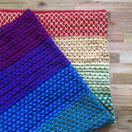 Wool of the Andes Rainbow Blanket