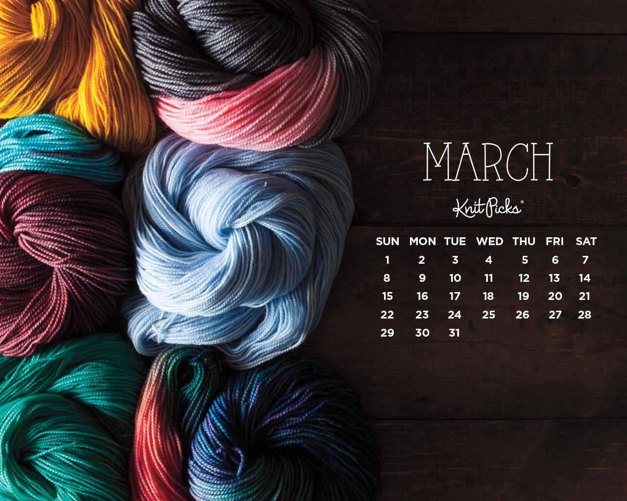 March 2015 wallpaper calendar knitpicks staff knitting blog - March desktop wallpaper ...