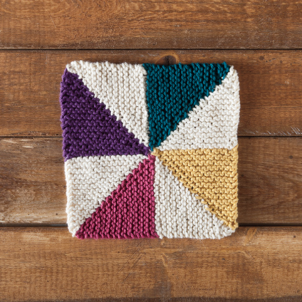 Pinwheel Knitting Pattern : Free Dishcloth Pattern - Pinwheel Dishcloth - KnitPicks Staff Knitting Blog