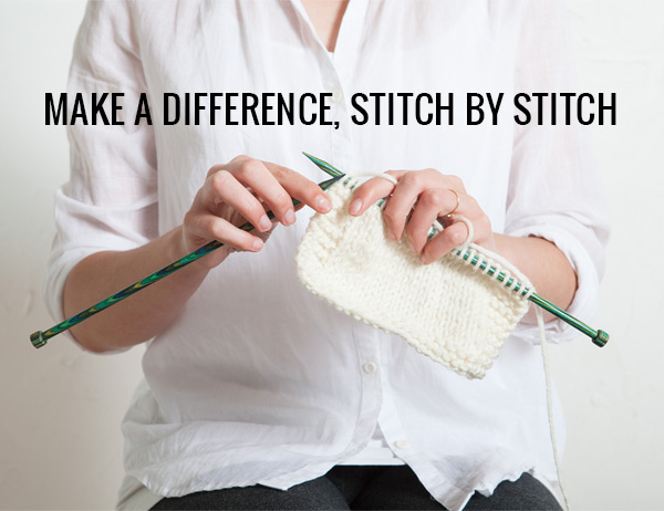 Make a difference, stitch by stitch