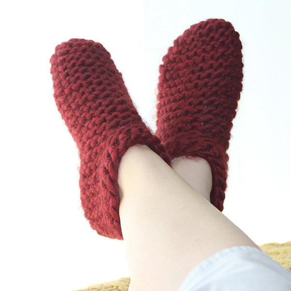 Tick Tock Slippers in The Big Cozy from knitpicks.com