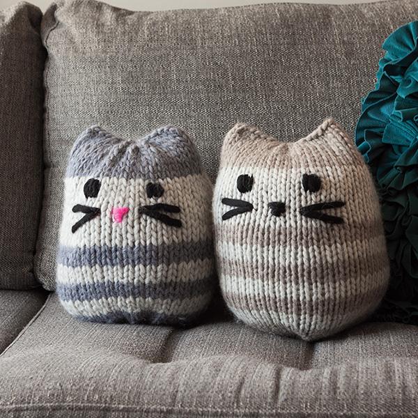 Mini Kitty Pouf in The Big Cozy from knitpicks.com