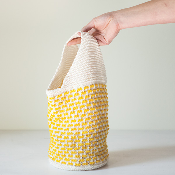 Free knitted lunch bag pattern - Lovely Lunch Bag from knitpicks.com