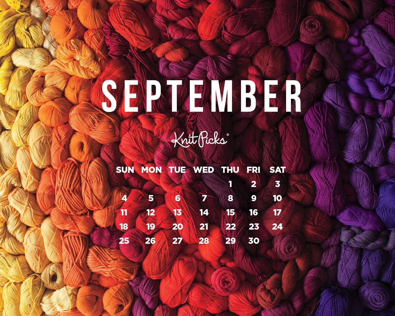 September 2016 CALENDAR - KnitPicks Staff Knitting Blog