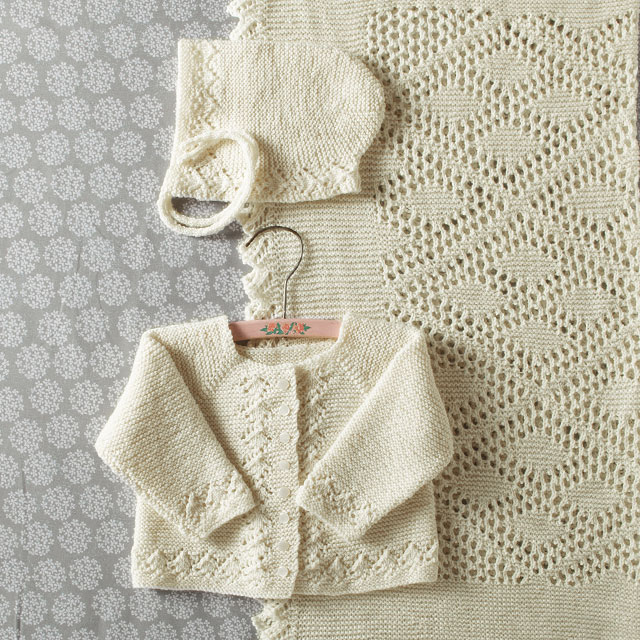 Heirloom Layette Set Pattern from KnitPicks.com