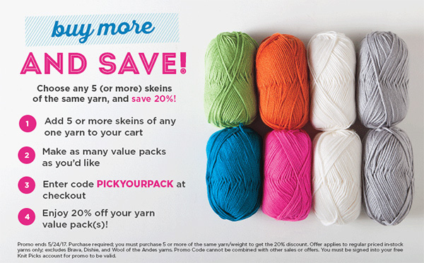 Yarn Value Pack Sale - Pick your own value pack & save 20% at knitpicks.com
