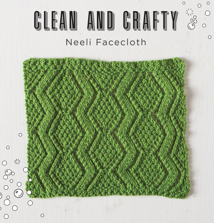 Free Facecloth Pattern - Neeli Facecloth from knitpicks.com