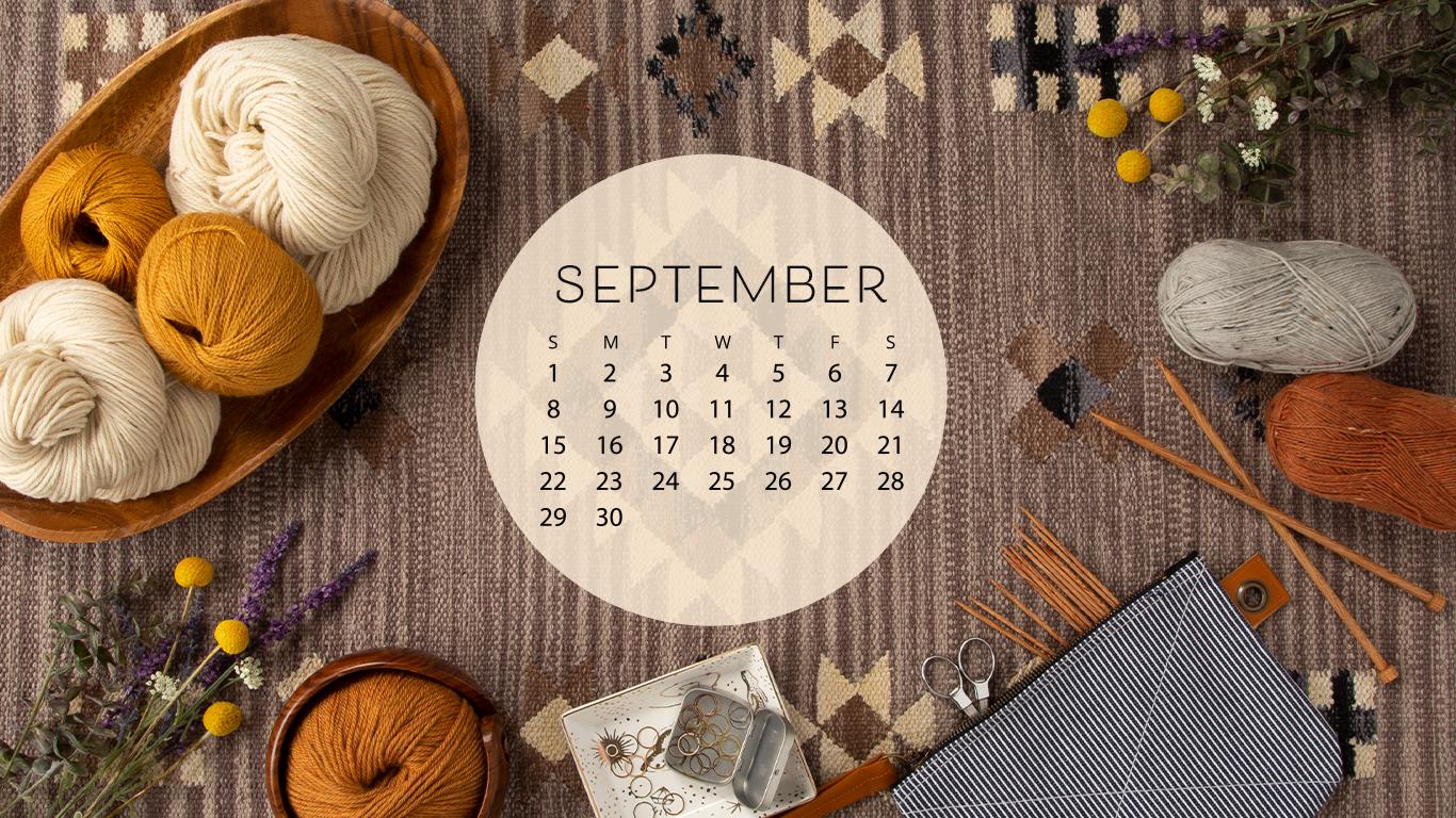 Free Downloadable September Calendar Knitpicks Staff