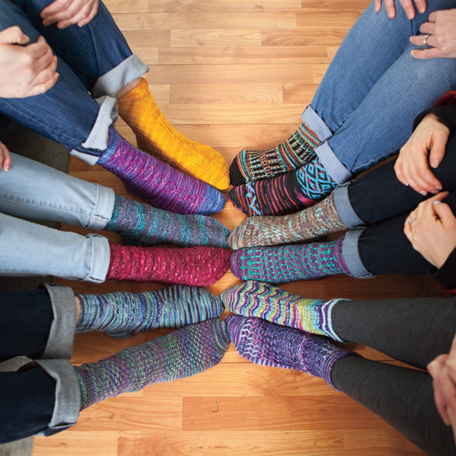 Artful Arches Sock Pattern Collection from KnitPicks.com