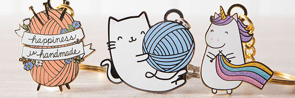 Stocking Stuffers - gifts for knitters and crafters, Knit Picks exclusive enamel keychains
