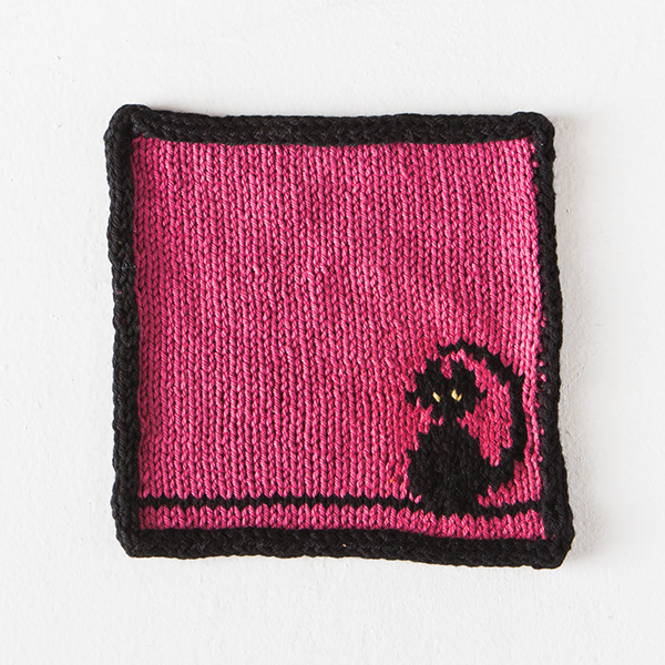 Free Kitty Dishcloth from Knit Picks