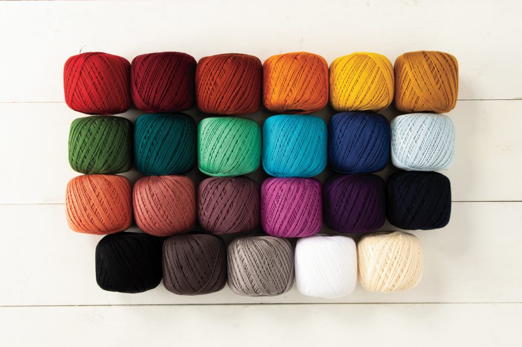 This luxe #3 crochet thread is ideal for crocheted home décor items such as doilies, coasters, table cloth, curtains, as well as lace and amigurumi.